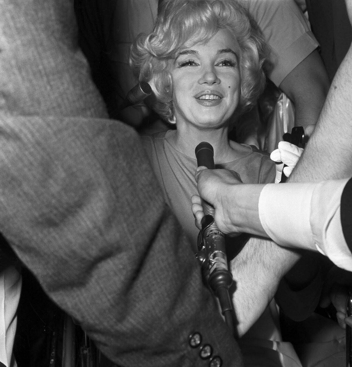 Newsmen Interviewing Marilyn Monroe