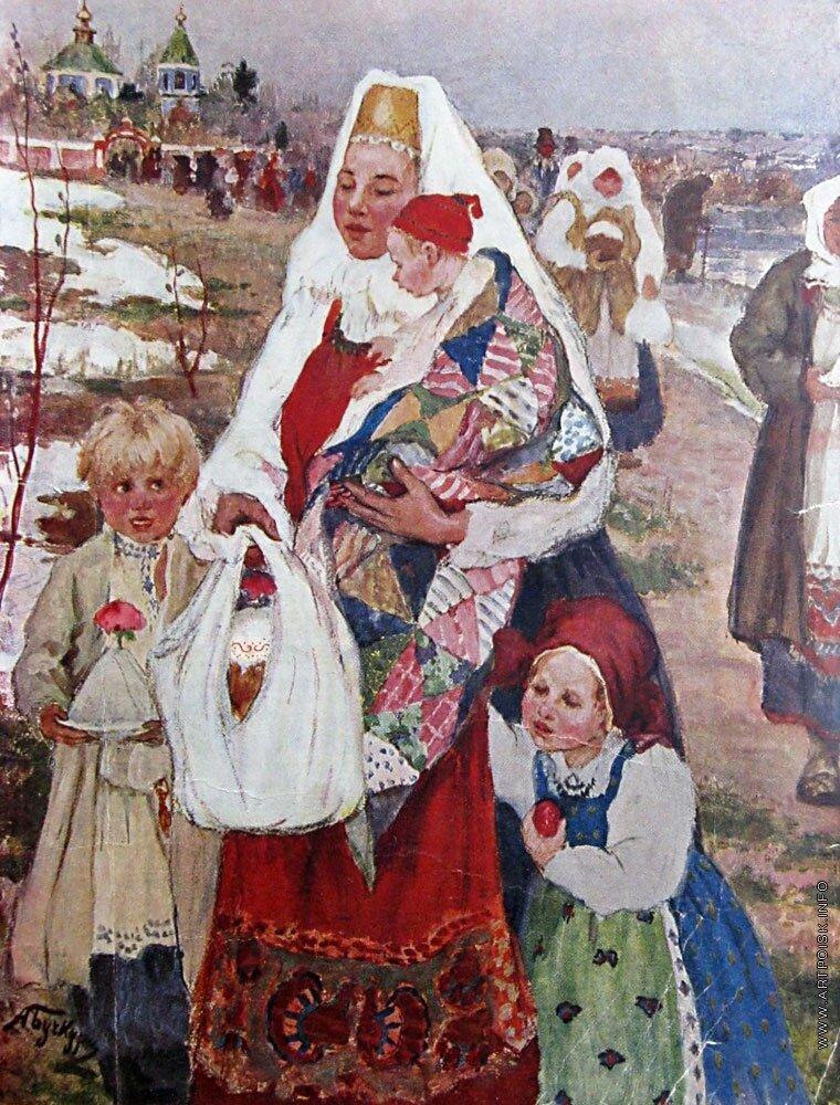 От святой заутрени. Бучкури Александр Алексеевич (1870-1942)_2