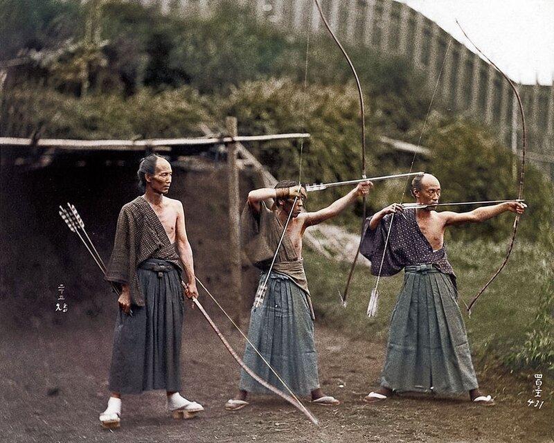 Японские лучники, 1860 год © photojacker