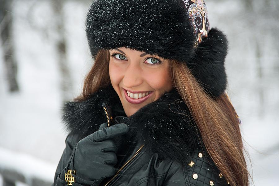 фотосессия в парке зимой город Иваново