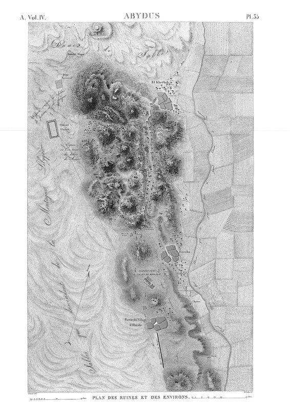 Храм Сети в Абидосе, Египет, карта местности