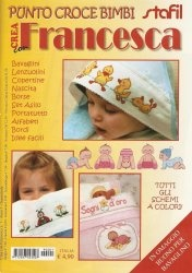Журнал Crea con francesca №1 2009. Punto croce bimbi