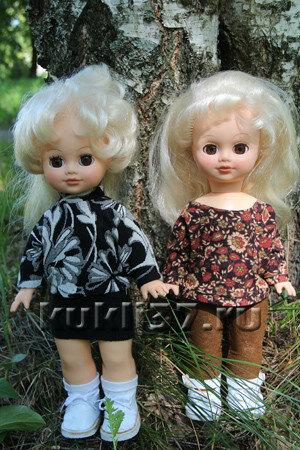 """свитер для куклы с рукавом """"летучая мышь"""""""