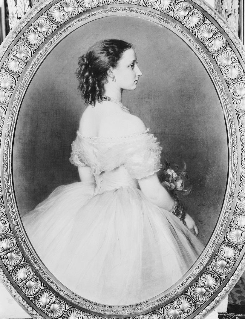 Принцесса Луиза (1848-1939), позже герцогиня Аргайл  Подпись и дата 1865
