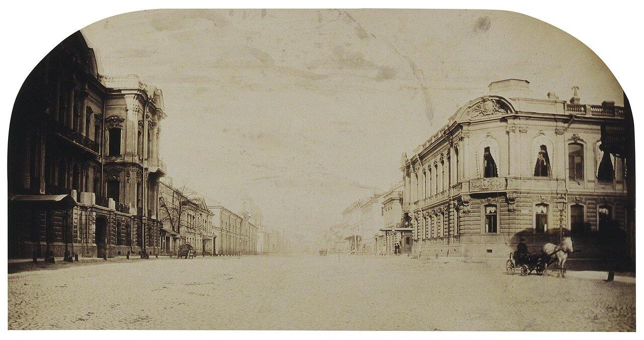 Особняк П.С. Строганова на Сергиевской улице. Вид с перспективой улицы
