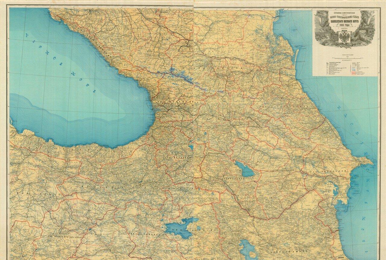 1903. Карта Кавказа