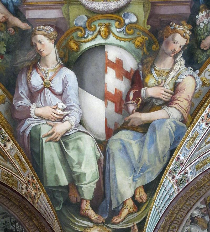 Palazzo_capponi-vettori,_salone_poccetti,_pennacchio_con_stemma_capponi_salviati,_2.JPG