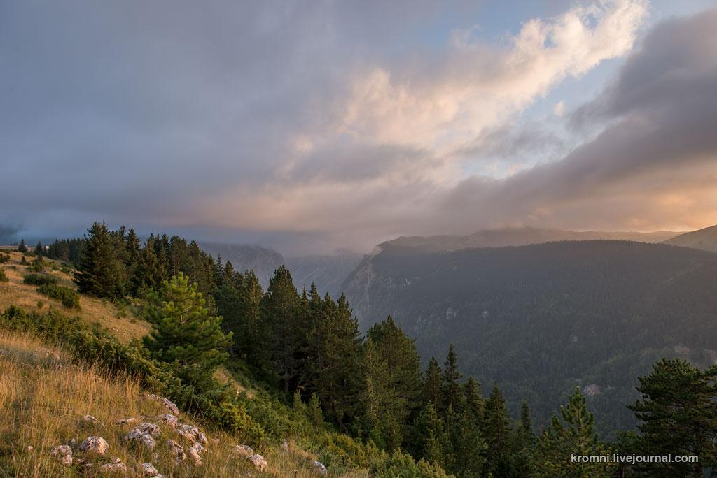 Вечер в горах Дурмитора. Черногория