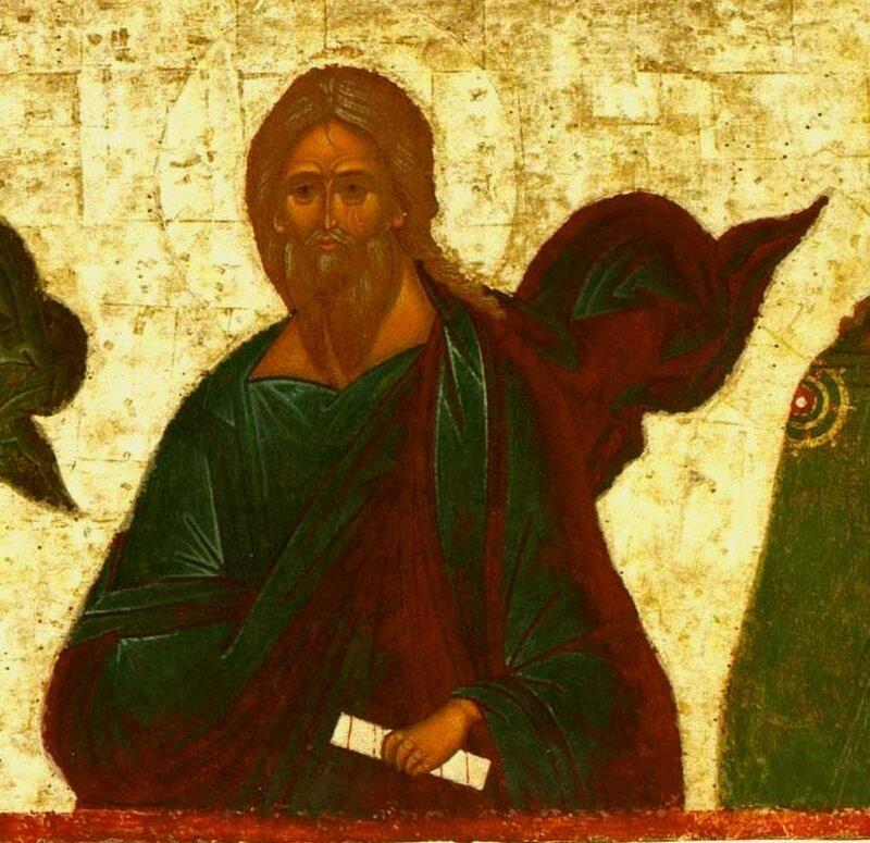 Святой Пророк Аггей. Фрагмент иконы из иконостаса Успенского собора Кирилло-Белозерского монастыря. Около 1497 года.