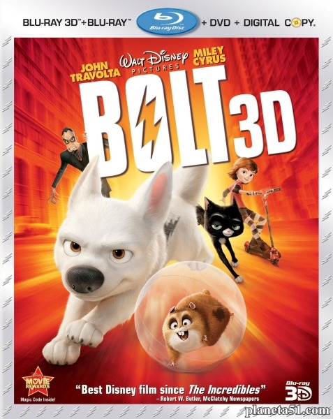Вольт / Bolt (2008/HDRip/BDRip/3D) + AVC