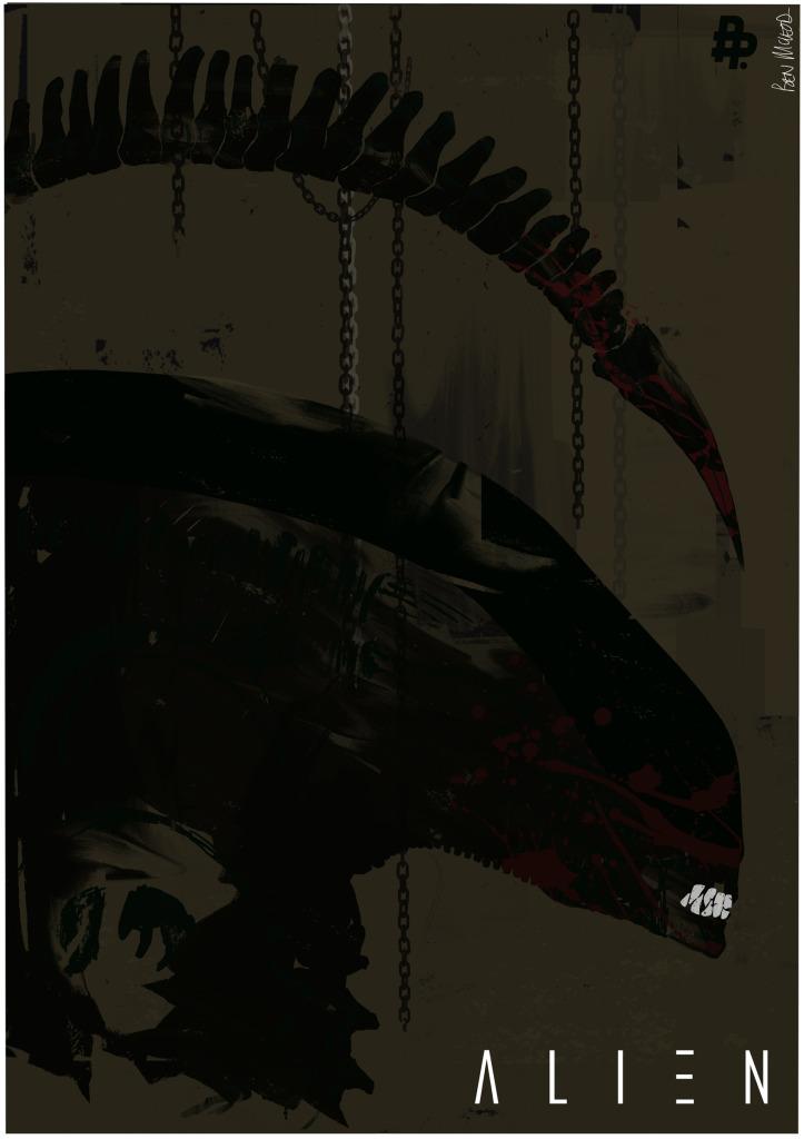 35-летний юбилей легендарного «Чужого» Ридли Скотта. Лучшие постеры франшизы