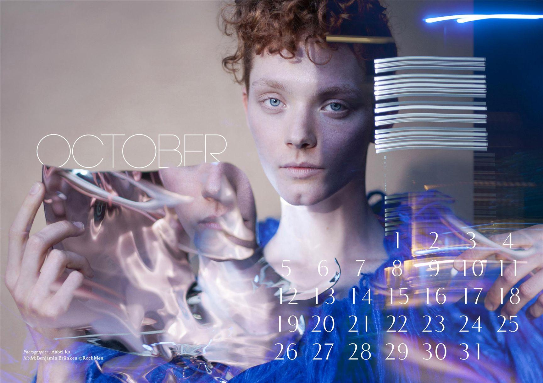 модно-артистический календарь журнала Bizart 2015 calendar - Benjamin Brunken by Aabel Ka