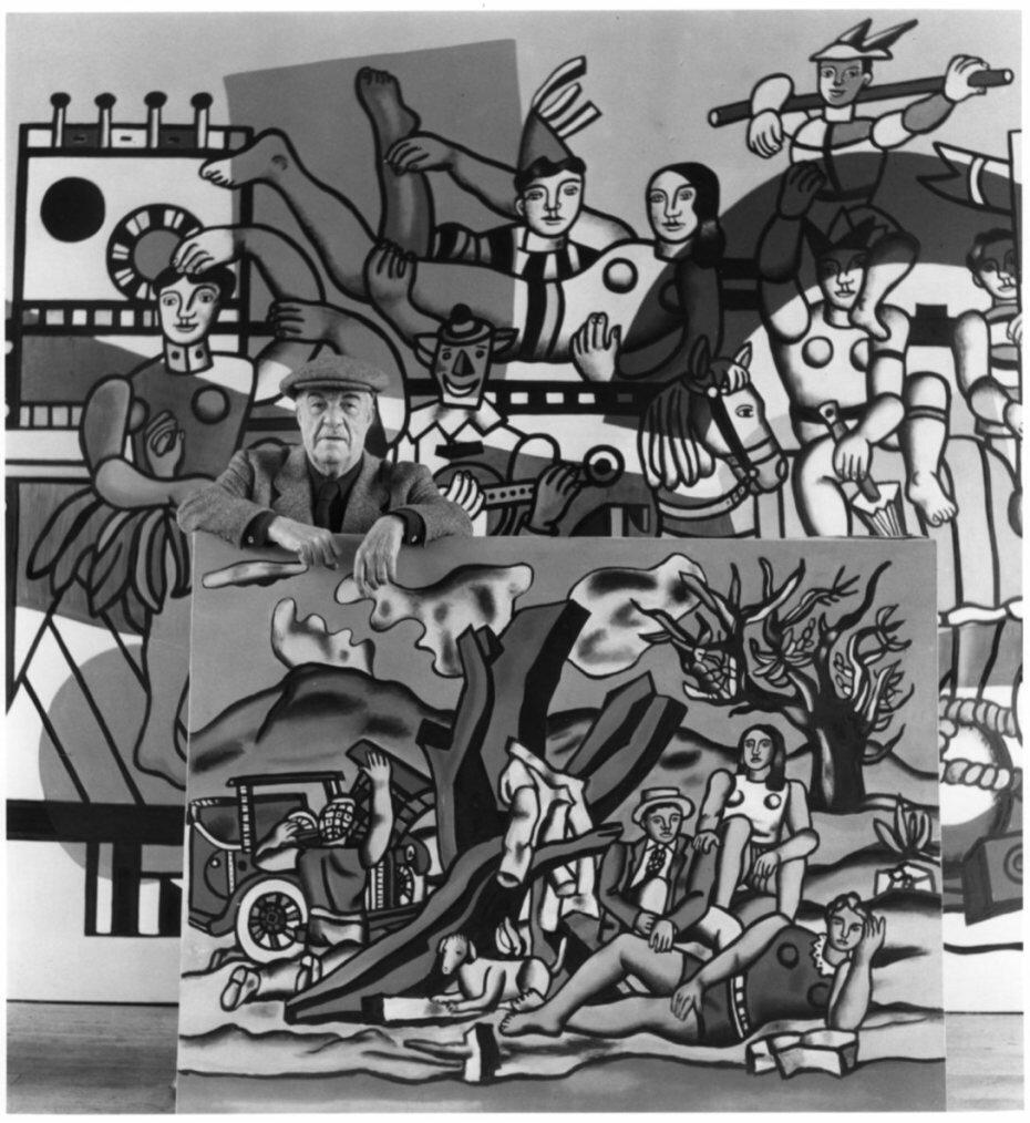 1954. Фернан Леже возле своих работ, Гиф-сюр-Иветт
