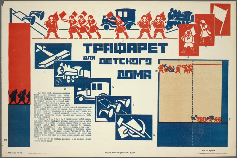 Stencils for decorating walls of an orphanage Искусство в быту, 1925.jpg