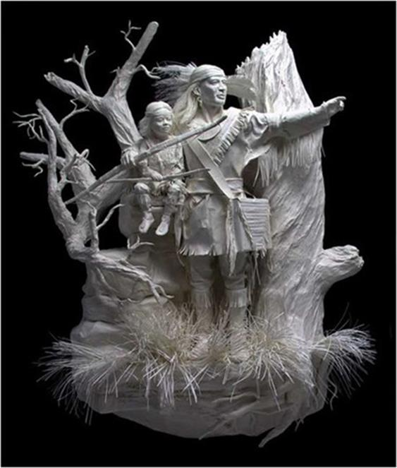 Удивительные скульптуры из бумажной массы 0 115b61 d71f73e1 orig