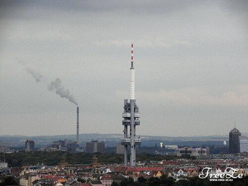 Вид с Петршина, Жижковская башня