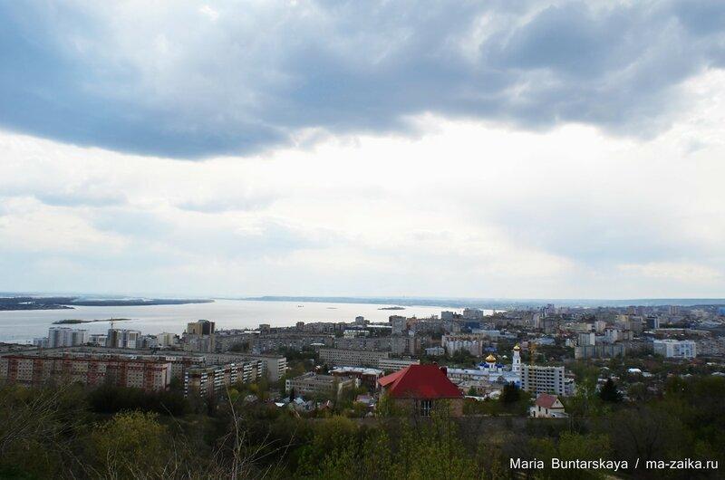 Виды на Волгу, Саратов, Соколовая гора, 01 мая 2015 года