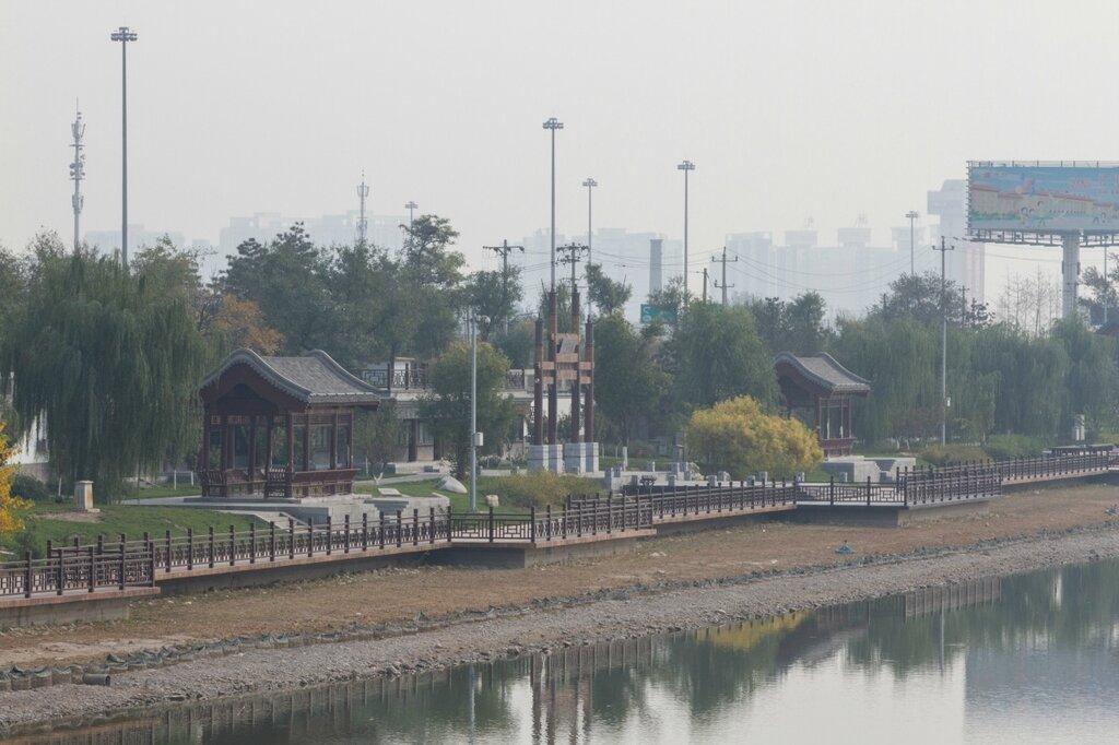 Парк на берегу реки Юндин