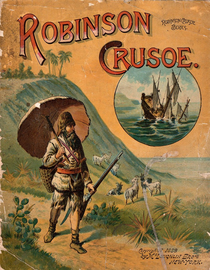 robin crosoe Robinson crusoe flees britain on a ship after killing his friend over the love of mary a fierce ocean storm wrecks his ship and leaves him stranded by himself on an uncharted island.