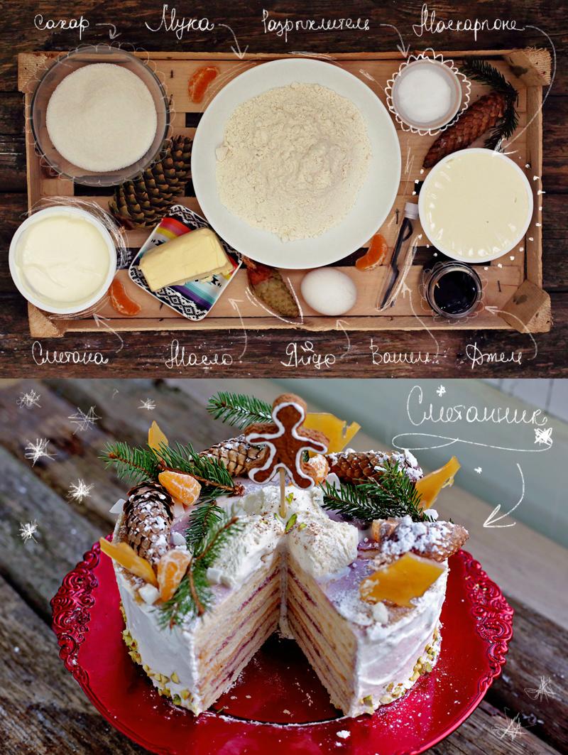 Сметанник - пошаговый рецепт вкусного торта с фото #2.