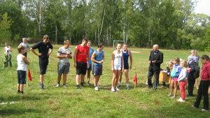 Рябчинская школа.16 сентября 2015 года. Легкоатлетический кросс. На старте самые опытные легкоатлеты!