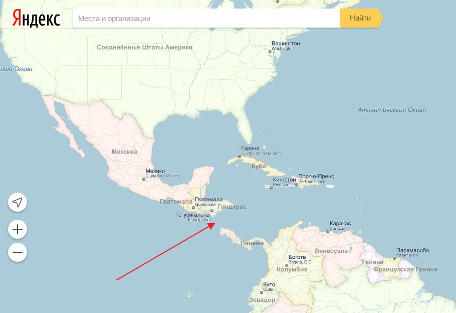 Карта. где находится куба