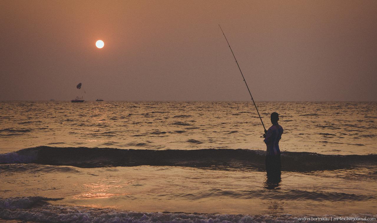 Закат на пляже Калангут, Гоа