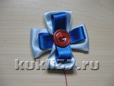голубая ромашка из 4 лепестков