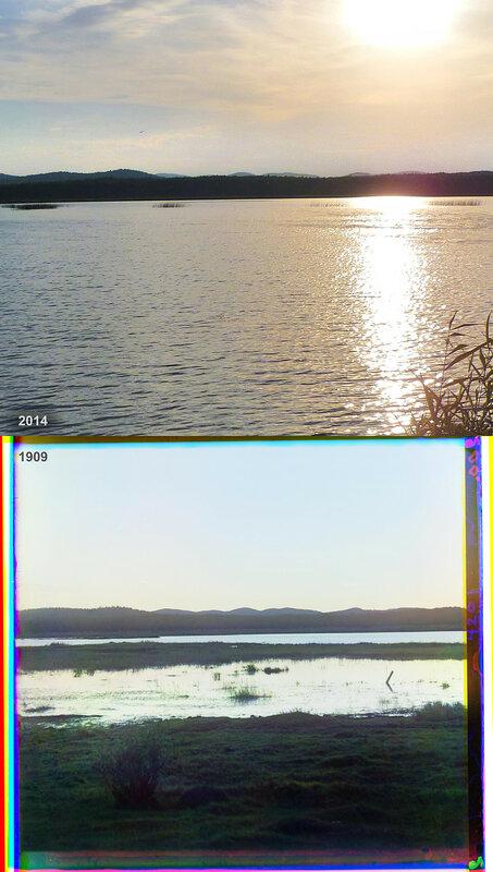 Озеро Сугомак после заката.