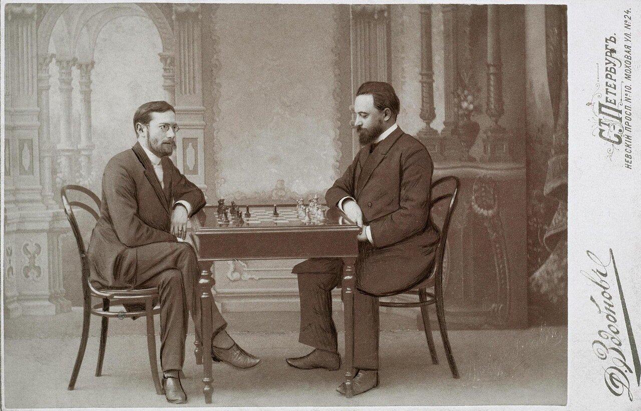 Шахматный матч Михаила Ивановича Чигорина и 3игберта Тарраша в Петербургском шахматном клубе 8 апреля 1893 года