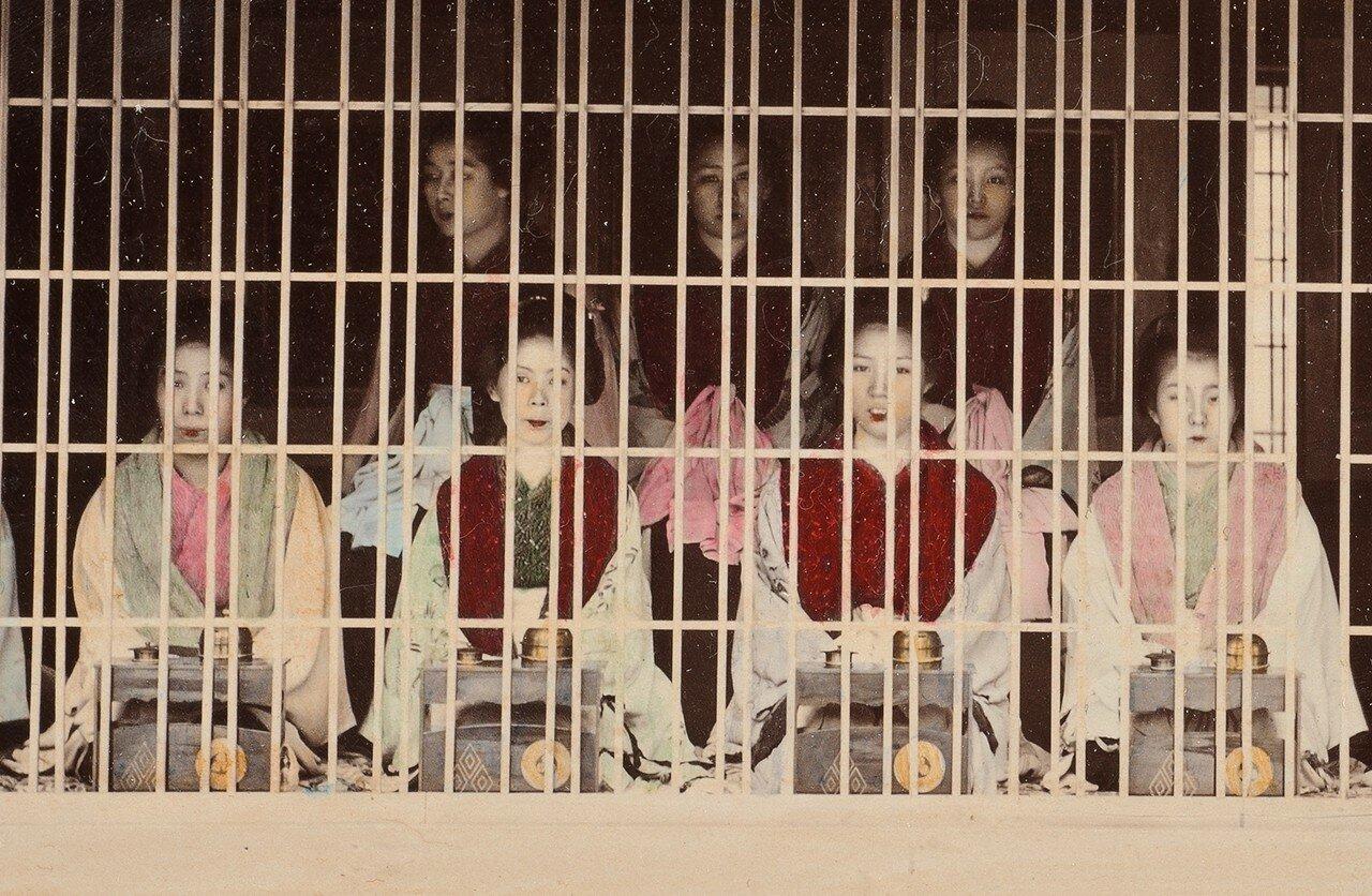 Проститутки токийского квартала Ёсивара, 1890