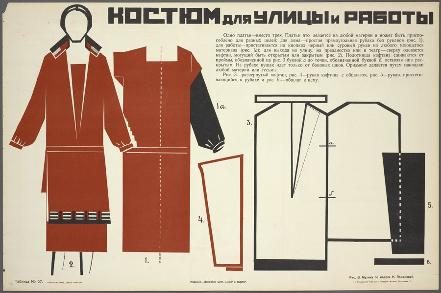 Design by Nadezhda Lamanova, illustration by Vera Muhina; Искусство в быту (Art in Everyday Life), 1925.jpg
