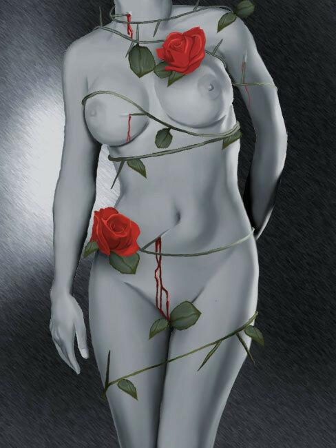 Была ещё красавицей вчера, нет вечности у матушки-природы.  Художник Brita Seifert