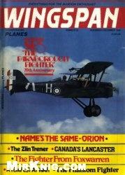 Книга Wingspan November/December 1986