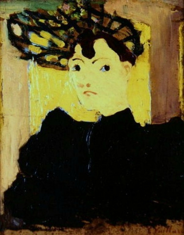 7 Jean Édouard Vuillard (1868-1940) Woman in a Green Hat c 1890.jpg