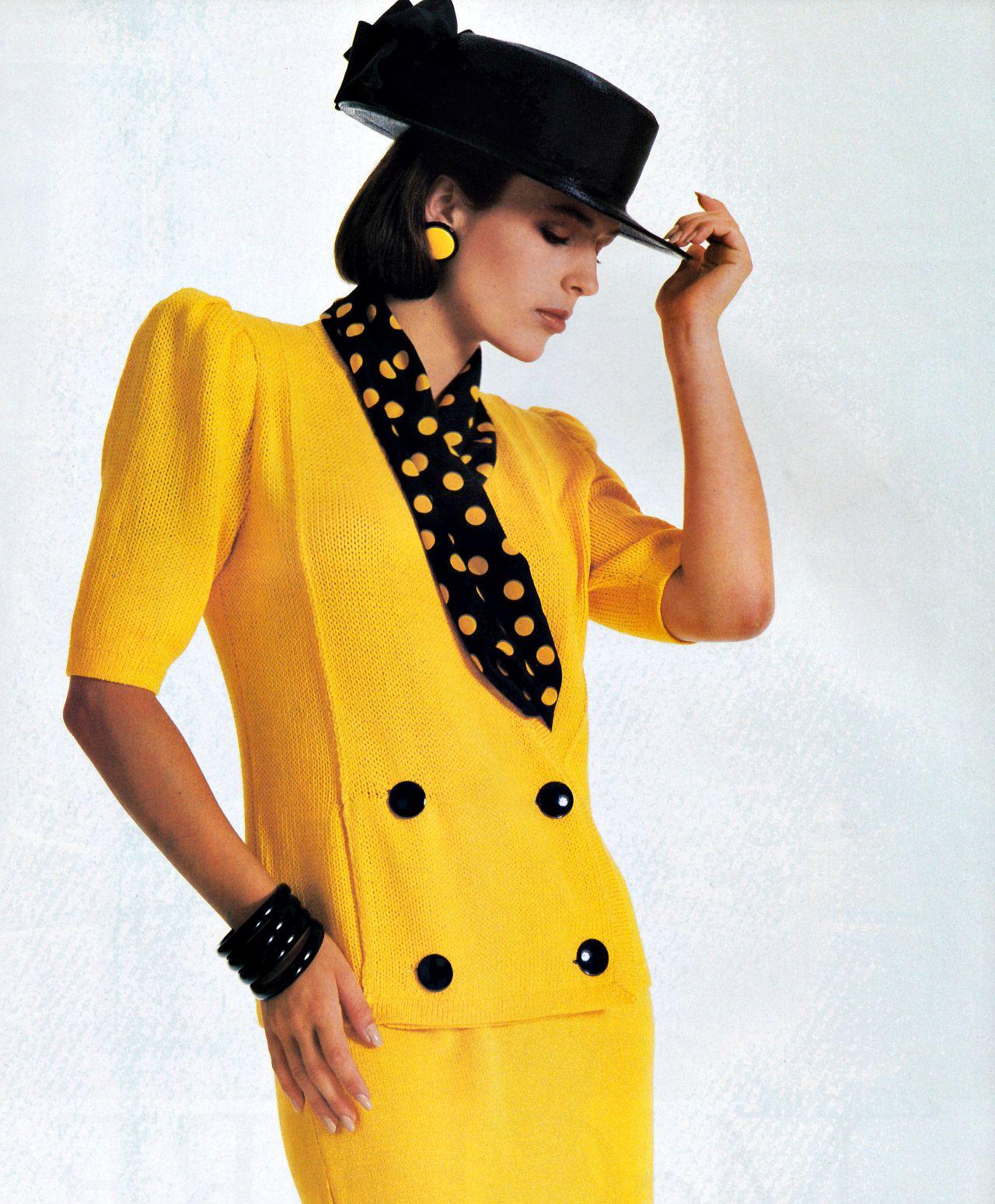 Мода 1980-х годов фото женские