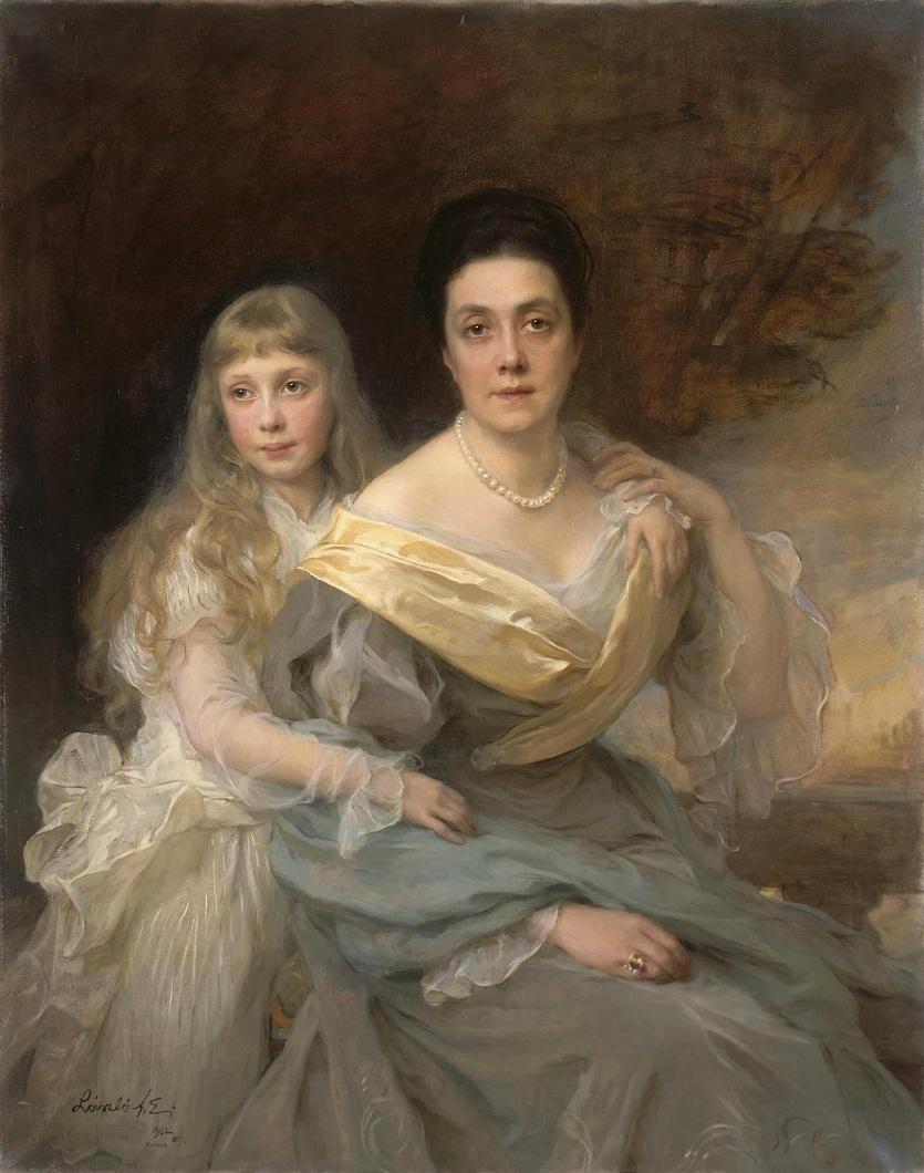 1902_Портрет дамы с дочерью  Санкт-Петербург, Эрмитаж.jpg