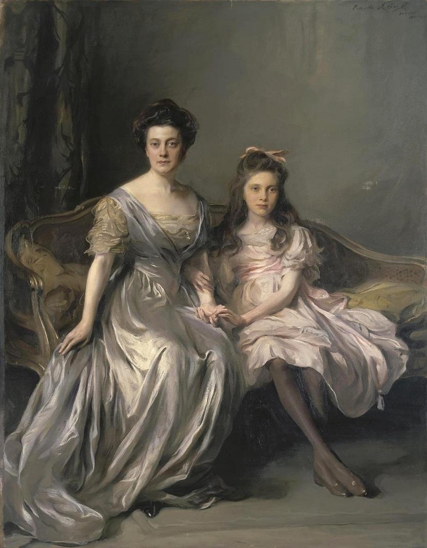 1910-1912_Портрет дамы с дочерью (Портрет Ани и Лани)  Санкт-Петербург, Эрмитаж.jpg
