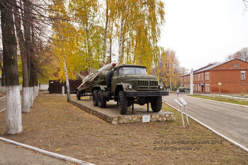Заряжающая машина для ЗРК С-75 на ЗИЛ-131В. Памятники на территории бывшего Рязанского военного училища (сейчас автомобильный факультет  воздушно-десантного училища)