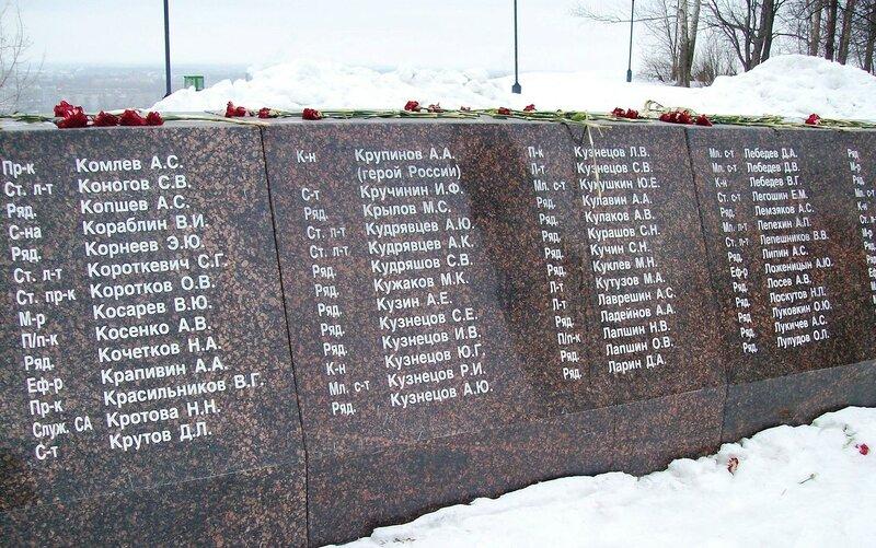 Погибшим в Афганистане и Чечне