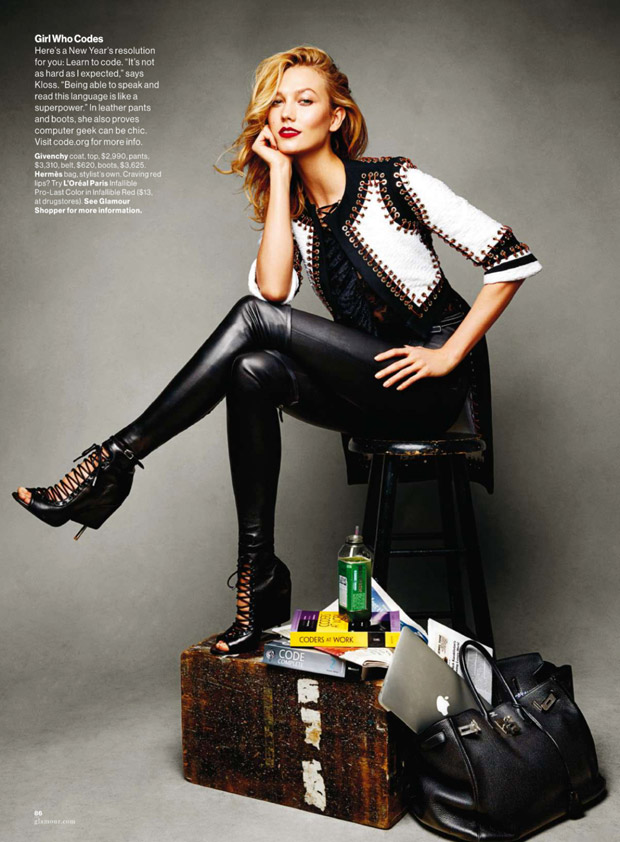 Карли Клосс (Karlie Kloss) в журнале American Glamour (8 фото)