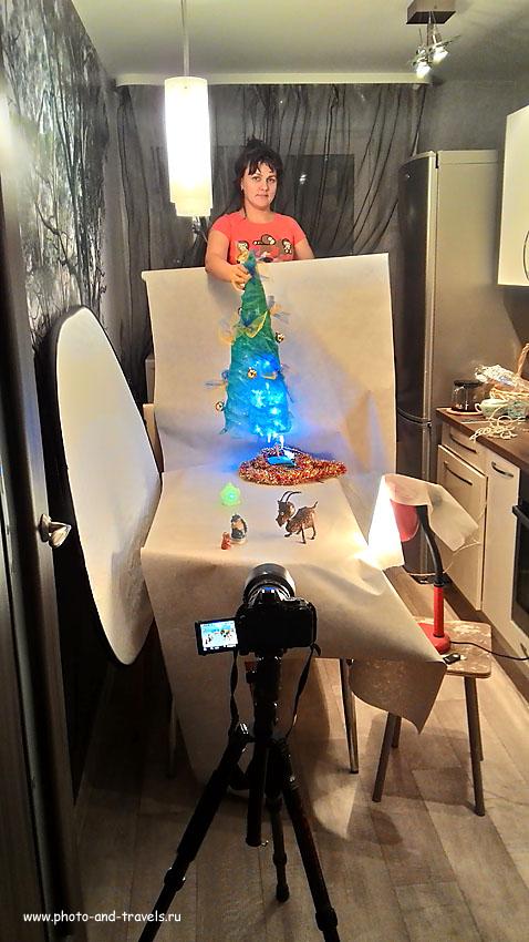 1. Импровизированная студия для съемки предметки дома