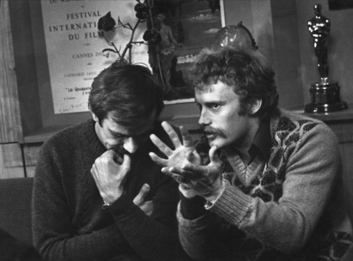 Разговор по душам. Н. Михалков и Д. Ольбрыхский. 1970.