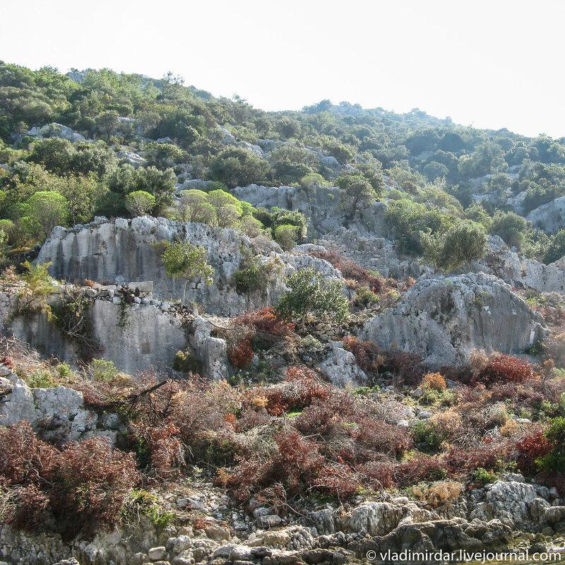 Руины древнего античного города Долихисте