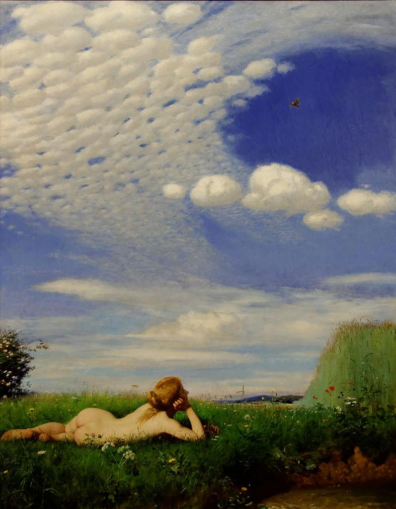 Skylark. (1883) Pál Szinyei Merse. Жаворонок. (1883)Синьеи-Мерше, Пал.