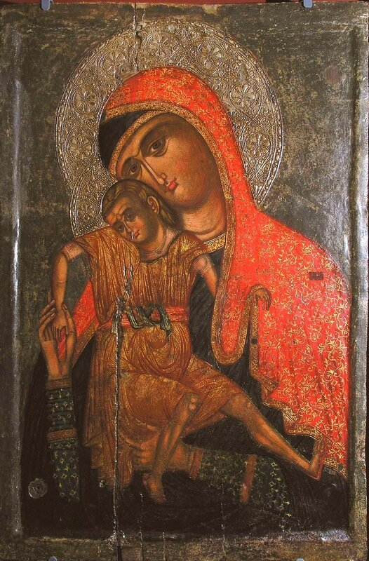 """Икона Божией Матери, именуемая """"Милостивая"""" (Киккская). Кипр."""