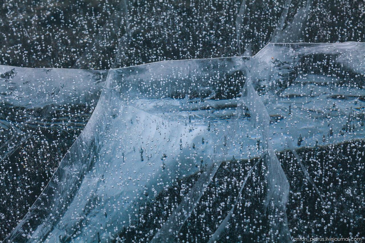 Зимние абстракции, ледяные узоры