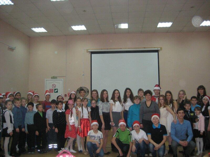 Участники декады: учителя английского языка с учениками