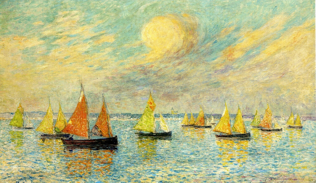 Ferdinand du Puigaudeau - The Return of the Fishing Fleet, Croisic, 1916.jpeg