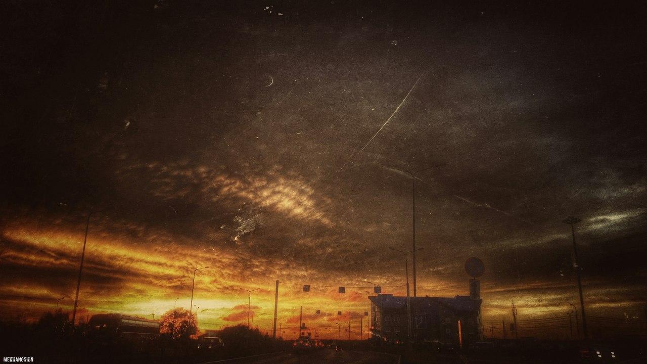 небо над дорогой